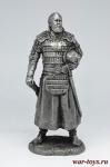 Монгольский знатный воин, 12 век 75 мм - Не крашенный оловянный солдатик. Высота 75 мм.