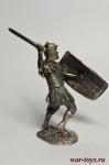 Римский Легионер с воздетым щитом, I в. н.э. - Не крашенный оловянный солдатик. Высота 54 мм.
