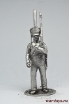 Рядовой конно-егерских полков, 1813-14 гг. - Не крашенный оловянный солдатик. Высота 54 мм.