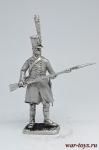 Рядовой прусского добровольческого корпуса Марвица 1806 - Не крашенный оловянный солдатик. Высота 54 мм.