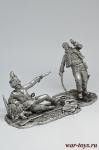 Генерал Лассаль и венгерский гренадер - Не крашенный оловянный солдатик. Высота 54 мм.