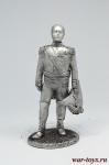 Александр I - Не крашенный оловянный солдатик. Высота 54 мм.
