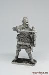Викинг со щитом - Не крашенный оловянный солдатик. Высота 54 мм.