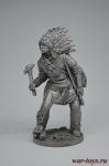 Индеец с тамагавком - Не крашенный оловянный солдатик. Высота 54 мм.