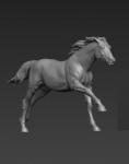 Лошадь (смола) - Фигурка, смола (набор для сборки из 4 деталей). Размер 54 мм (1:30)