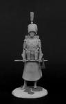 Сержант-сапер 7-го линейного пехотного полка - Оловянный солдатик, белый металл (набор для сборки из 13 деталей). Размер 54 мм (1:30)