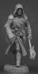 Миры Фэнтези: Боевой маг - Оловянный солдатик, белый металл (набор для сборки из 16 деталей). Размер 54 мм (1:30)