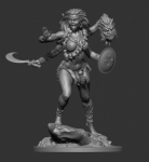 Индийская богиня Кали 75 мм (смола) - Фигурка из смолы (набор для сборки из 12 деталей). Размер 75 мм