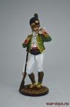 Рядовой Каталонского батальона лёгкой пехоты. Испания, 1807-08 - Оловянный солдатик коллекционная роспись 54 мм. Все оловянные солдатики расписываются художником вручную