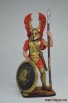 Гоплит, конец 6-го – нач. 5 века до н.э. - Оловянный солдатик коллекционная роспись 54 мм. Все оловянные солдатики расписываются художником вручную