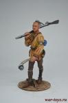 Индеец Ирокез - Оловянный солдатик коллекционная роспись 54 мм. Все оловянные солдатики расписываются художником вручную