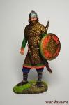 Гуннский воин, 4-5 в.в. 75 мм - Оловянный солдатик коллекционная роспись 75 мм. Все оловянные солдатики расписываются художником вручную