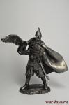 Княжеский дружинник с ловчей птицей. Русь, 10 век - Не крашенный оловянный солдатик. Высота 75 мм.