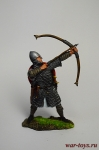 Норманнский лучник, 11 век. - Оловянный солдатик коллекционная роспись 54 мм. Все оловянные солдатики расписываются художником вручную
