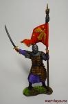 Золотоордынский знаменосец, 14 век - Оловянный солдатик коллекционная роспись 54 мм. Все оловянные солдатики расписываются художником вручную