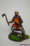 Рыцарь в бою - Оловянный солдатик коллекционная роспись 54 мм. Все оловянные солдатики расписываются художником вручную