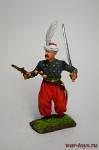 Офицер провинциальной пехоты йерликулу, 18 век. Османская импери - Оловянный солдатик коллекционная роспись 54 мм. Все оловянные солдатики расписываются художником вручную