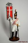 Эстандарт-юнкер Кавалергардского полка со штандартом. 1805-08 - Оловянный солдатик коллекционная роспись 54 мм. Все оловянные солдатики расписываются художником в ручную