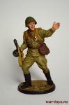 Гвардии рядовой Красной Армии, 1943-45 гг. СССР - Оловянный солдатик коллекционная роспись 54 мм. Все оловянные солдатики расписываются художником в ручную
