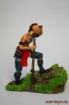 Воин Ирокез - Оловянный солдатик коллекционная роспись 54 мм. Все оловянные солдатики расписываются художником в ручную