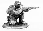 Снайпер (Германия) - Не крашенный оловянный солдатик. Высота 54 мм.