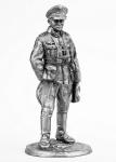Немецкий генерал - Не крашенный оловянный солдатик. Высота 54 мм.