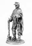 Егерь, Германия - Не крашенный оловянный солдатик. Высота 54 мм.