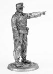 Танкист, Германия - Не крашенный оловянный солдатик. Высота 54 мм.