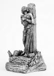 Жанна Д Арк - Не крашенный оловянный солдатик. Высота 54 мм.