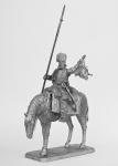 Конный казак с пикой - Не крашенный оловянный солдатик. Высота 54 мм.