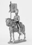 Фанен-юнкер драгунского полка, 1812-14 - Не крашенный оловянный солдатик. Высота 54 мм.
