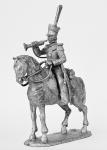 Трубач уланского полка, 1812-14 - Не крашенный оловянный солдатик. Высота 54 мм.