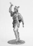 Скоморох - Не крашенный оловянный солдатик. Высота 54 мм.