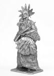 Римский Нос-военный вождь шайенов - Не крашенный оловянный солдатик. Высота 54 мм.
