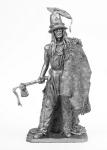 Ариихириш, вождь хидатса - Не крашенный оловянный солдатик. Высота 54 мм.