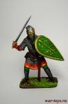 Русский воин-дружинник, 13 век - Оловянный солдатик коллекционная роспись 54 мм. Все оловянные солдатики расписываются художником вручную
