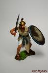 Воин-шердан из личной гвардии фараона, 2-1 тыс до н. э. - Оловянный солдатик коллекционная роспись 54 мм. Все оловянные солдатики расписываются художником вручную