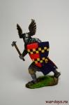 Германский рыцарь, 12 век. - Оловянный солдатик коллекционная роспись 54 мм. Все оловянные солдатики расписываются художником вручную