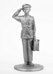 Суворовец Иван Трофимов - Не крашенный оловянный солдатик. Высота 54 мм.
