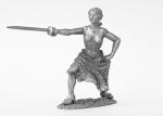 Мадам на дуэли - Не крашенный оловянный солдатик. Высота 54 мм