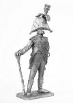 Тамбур мажор испанского гренадерского полка 1806 год - Не крашенный оловянный солдатик. Высота 54 мм