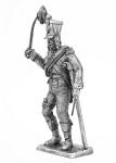 Офицер французской линейной пехоты. 1808-9 год - Не крашенный оловянный солдатик. Высота 54 мм