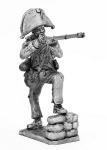 Рядовой испанской линейной пехоты, 1808-1809 г.г. - Не крашенный оловянный солдатик. Высота 54 мм