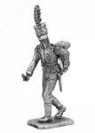 Корнет полка вюртембергских егерей - Не крашенный оловянный солдатик. Высота 54 мм