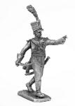 Офицер полка вюртембергских егерей - Не крашенный оловянный солдатик. Высота 54 мм