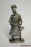 Сапер Баварского пехотного полка 1806-12 - Не крашенный оловянный солдатик. Высота 54 мм