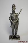 Рядовой Баварских шеволежеров 1806 - Не крашенный оловянный солдатик. Высота 54 мм