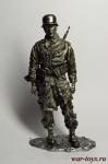 Вторая мировая. Немецкий солдат 90 мм - Оловянная миниатюра 90 мм