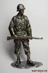 Вторая мировая. Американский солдат 90 мм - Оловянная миниатюра 90 мм