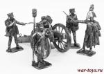 Батарея Раевского Н.Н. - Набор оловянных солдатиков 6 шт. 54 мм